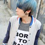 Mens Korean Hairstyles – Pastel Rounced Cut with Dark Undertones