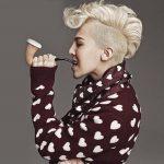 Mens Korean Hairstyles – Platinum Blonde Mini Mohawk