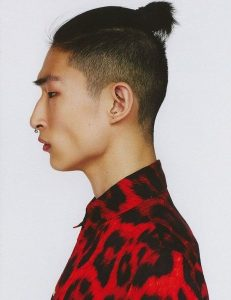 Korean Top Knot with Shaved Sides