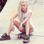 Punk Hairstyles for Women – Long Blonde Dreadlocks with Undercut