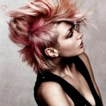Punk Hairstyles for Women – Rose Gold and Blorange Faux Hawk