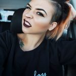 Punk Hairstyles for Women – Undercut with Bold Blorange Ombre