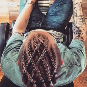 Woven Braid Hairstyle For guys