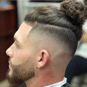 Bun-beard-fade