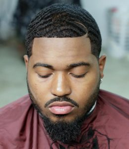 Black Men Waves With Half Moon Part