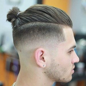 bun-mid-fade-haircut