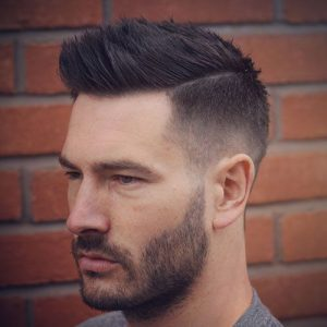 Business haircut with hard Part
